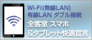 Wi-Fi/LAN(有線)ダブル接続 対応済みホテル