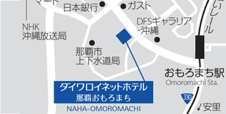 Yahoo!Map ゆいレールおもろまち駅からのご案内