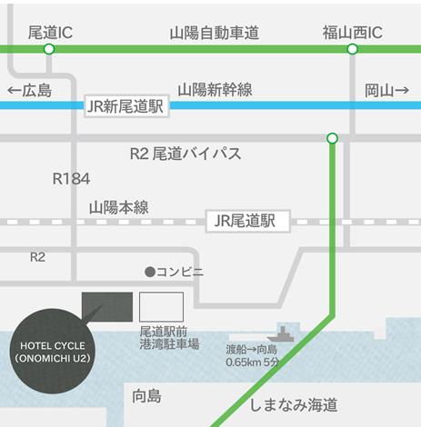 ホテルサイクル ホテルマップ