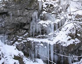 極寒の風物詩 氷柱「雲竜の髭」