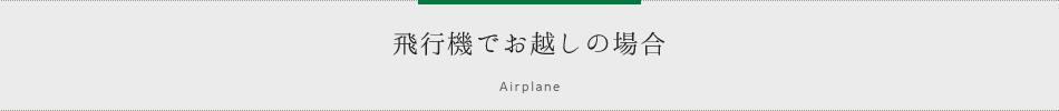 飛行機でお越しの場合