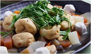 ひろうすと根菜の煮物