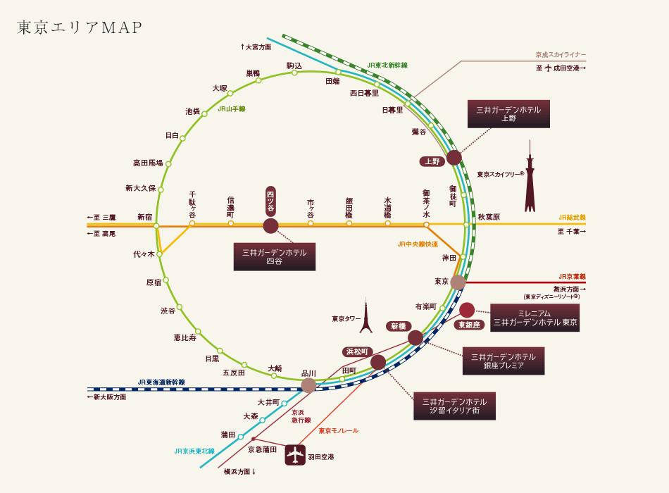 東京エリアマップ