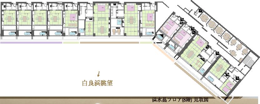 浜水晶フロア(8階)見取図