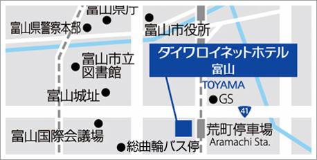 Yahoo!Mapへ JR富山駅からのご案内