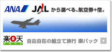 JAL・ANAと宿のセット 自由自在の組立て旅行 楽パック