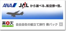 ANAとJAL航空券+宿泊セット