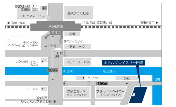 ホテルへのアクセスマップ