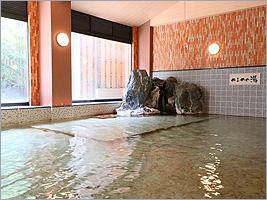 天然温泉かけ流しの大浴場