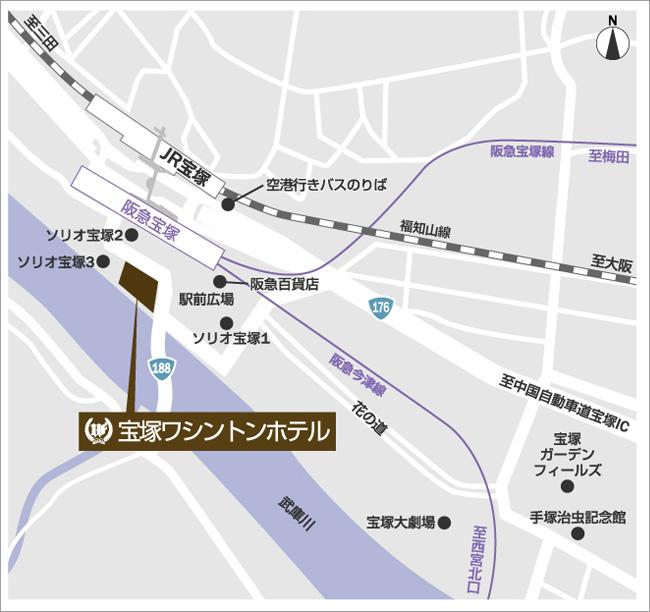 宝塚ワシントンホテルのホテルマップ