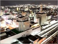 駅側景観確約プラン♪(室数限定)【駅東口の夜景を独り占め!電車の発着も見えますよ!】【素泊まり】