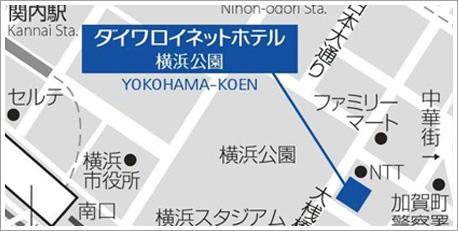 Yahoo!Mapへ 関内駅からのご案内