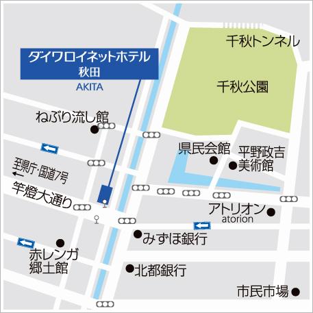 車でのアクセスマップ