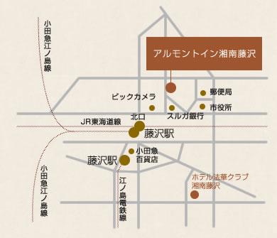 アルモントイン湘南藤沢 地図