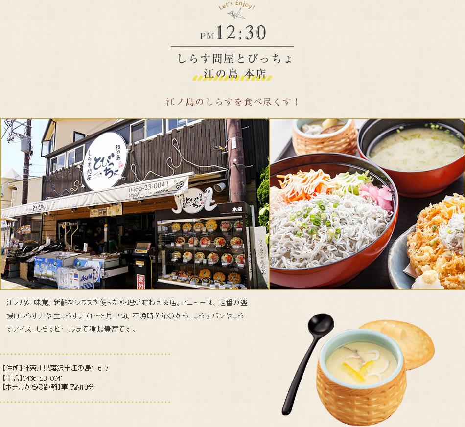 しらす問屋とびっちょ 江の島 本店 江ノ島のしらすを食べ尽くす!