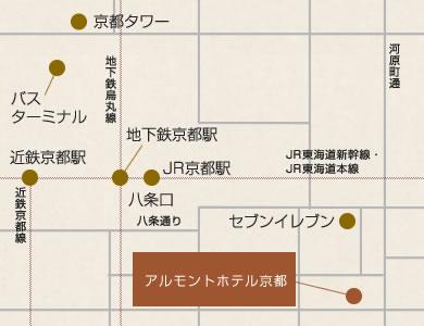 アルモントホテル京都 地図