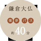 鎌倉大仏 徒歩 電車 約40分
