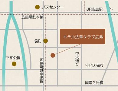 ホテル法華クラブ広島 地図