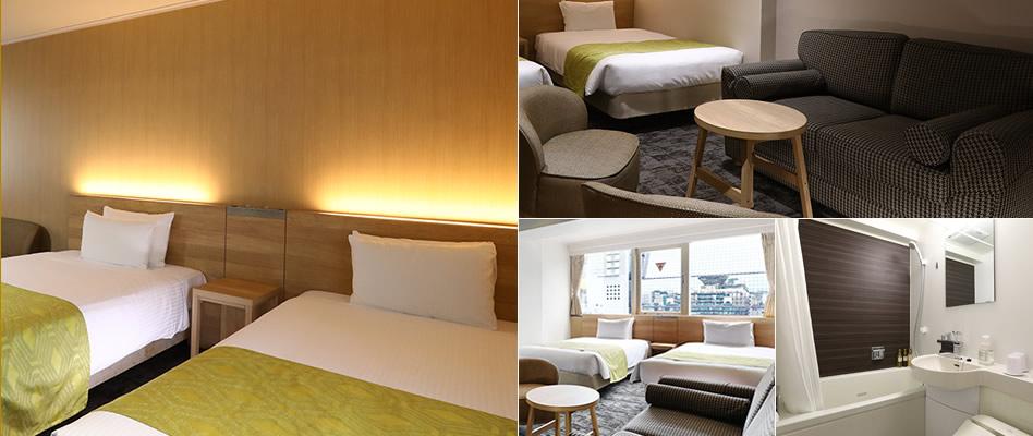 快適客室 全室Wi-Fi無料、デュベスタイル