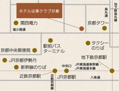 ホテル法華クラブ京都 地図