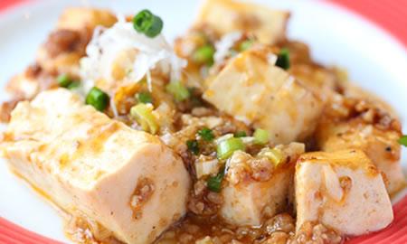 島豆腐の麻婆豆腐