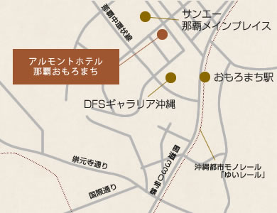 ホテル法華クラブ那覇新都心 地図