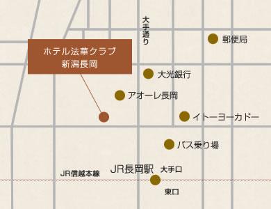 ホテル法華クラブ新潟長岡 地図