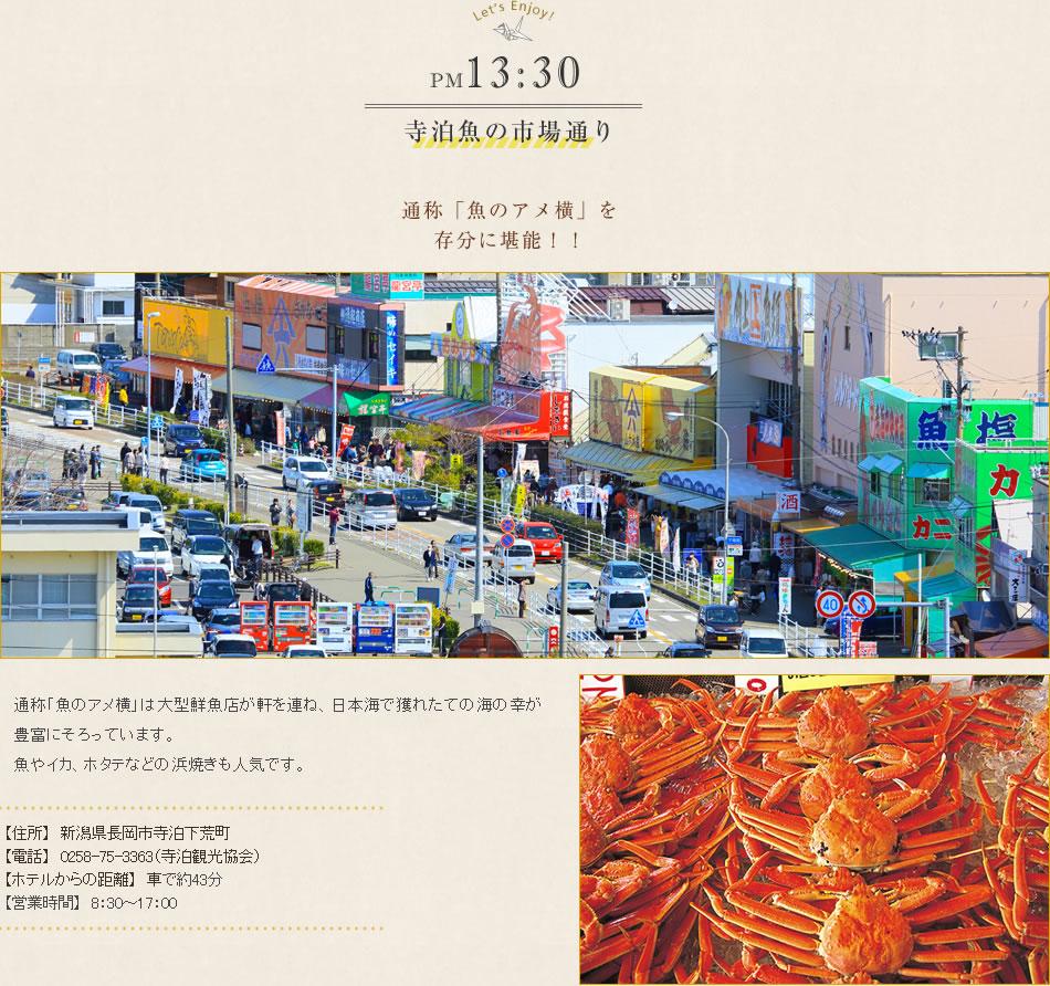 寺泊魚の市場通り 通称「魚のアメ横」を存分に堪能!!