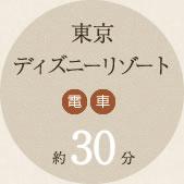 東京ディズニーリゾート 電車約30分