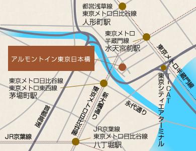 ホテル法華イン日本橋 地図