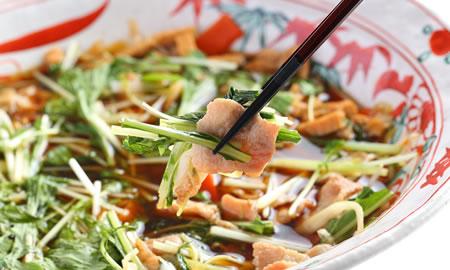 豚肉と水菜のハリハリ煮