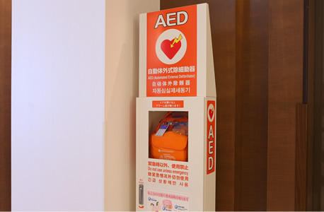 1F AED(自動体外式除細動器)