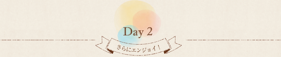 Day2 さらにエンジョイ!