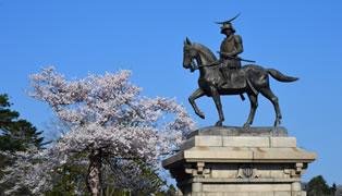 仙台城の在りし日の姿を思い浮かべる