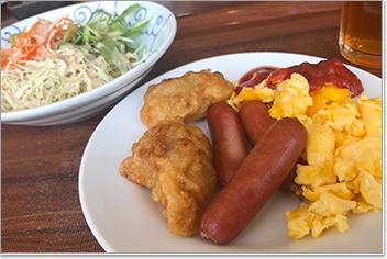 ルッソ・トヤマの朝食バイキング