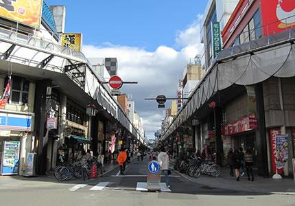盛岡大通商店街が、歩いてすぐの好立地!