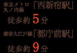東京メトロ丸ノ内線「西新宿駅」徒歩約5分