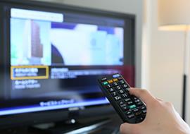 全室40型以上の大型テレビ