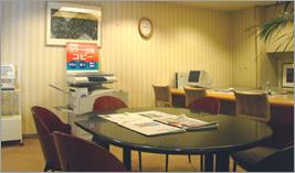 24時間無料でご利用できるビジネスセンター