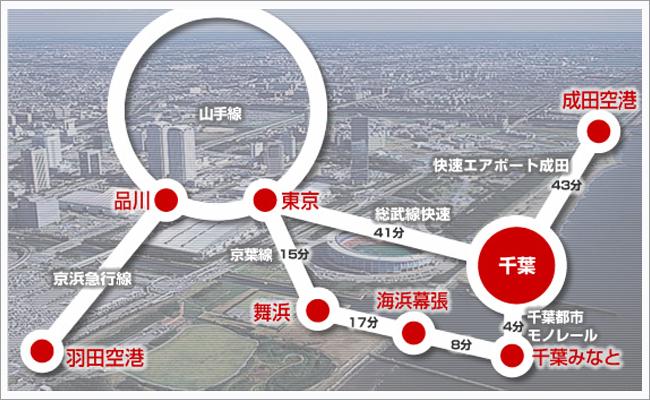 羽田空港や成田空港・東京ディズニーリゾート・幕張メッセなどホテルからのアクセス