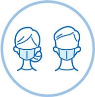 マスクを着用するイラスト