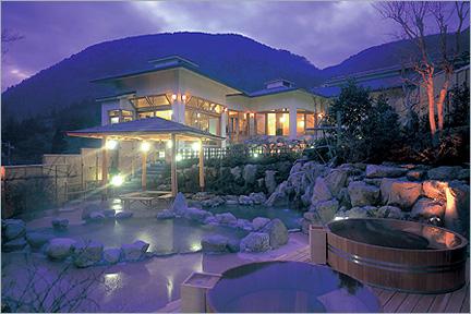 裸でゆったり楽しむ和風情緒あふれる温泉ゾーン 「森の湯」