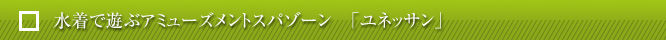 水着で遊ぶアミューズメントスパゾーン 「ユネッサン」