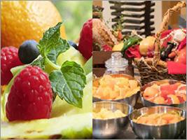 季節に応じた料理やデザートもご用意。