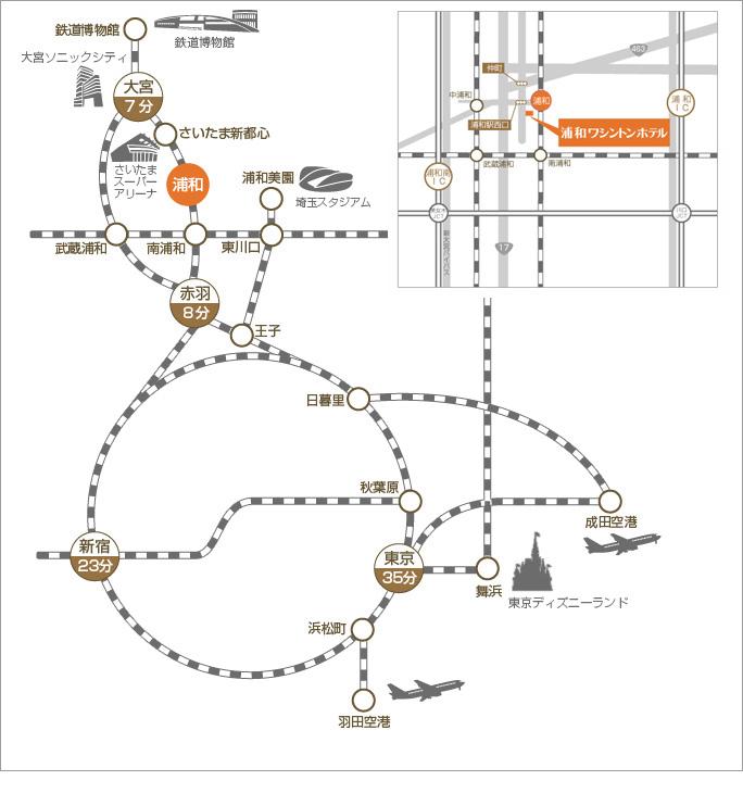 アクセス方法のマップ