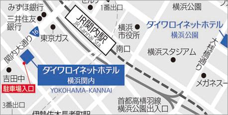 Yahoo!Map JR関内駅からのご案内